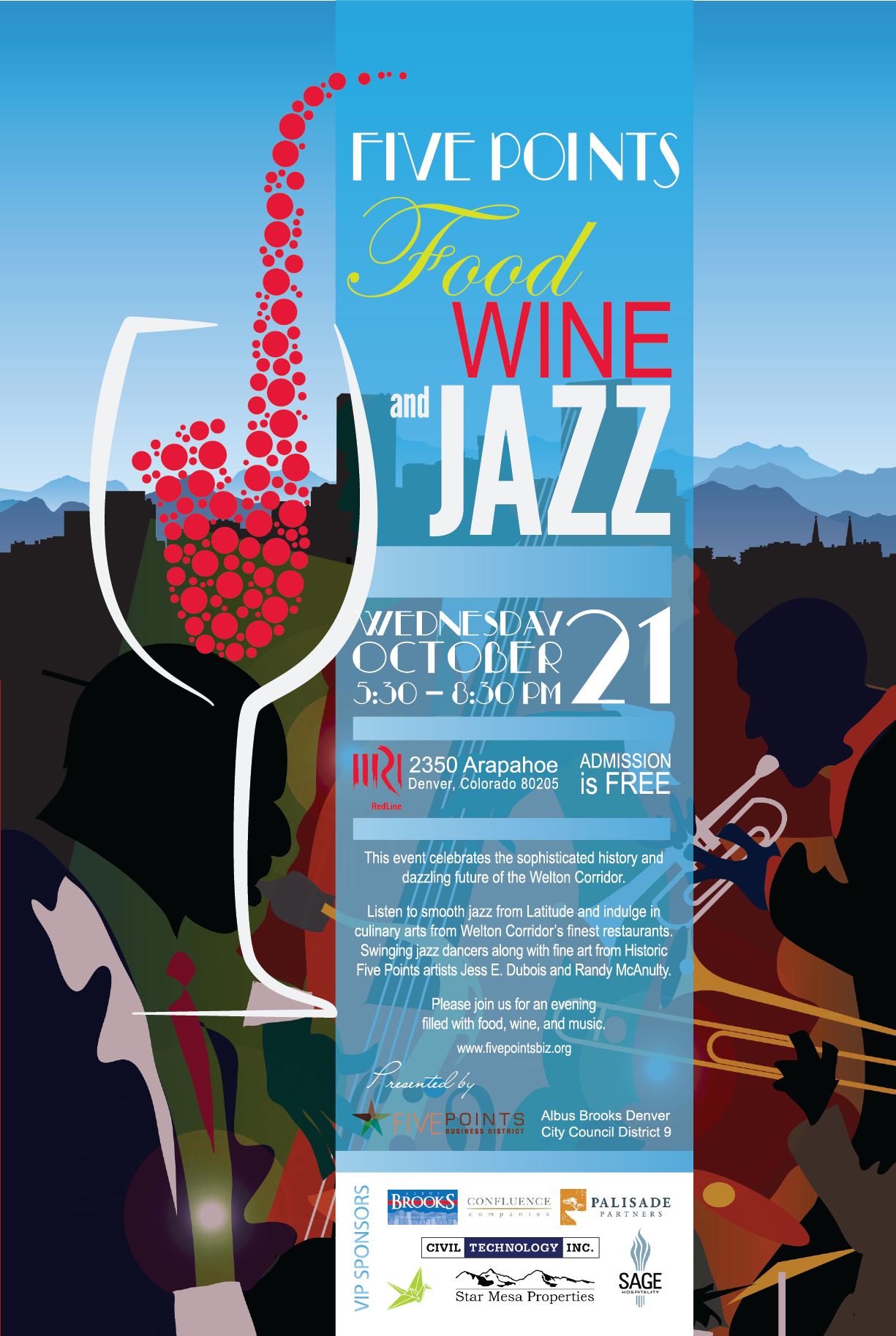 Five Points Food Wine and Jazz @ Redline Gallery | Denver | Colorado | United States