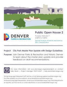 City Park Master Plan Open House @ Denver Museum of Natural History | Denver | Colorado | United States